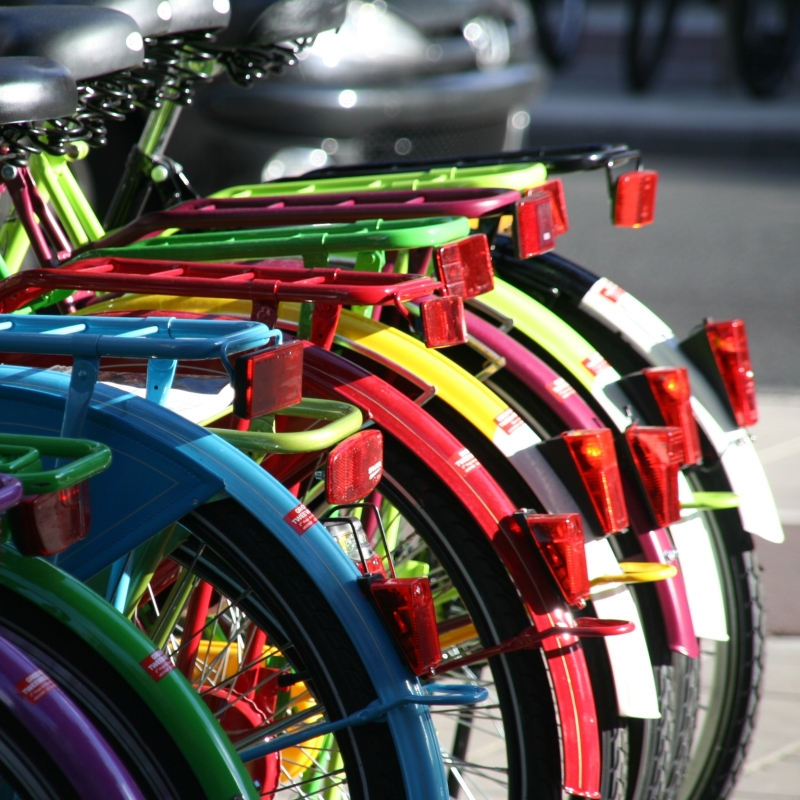 colourful bikes